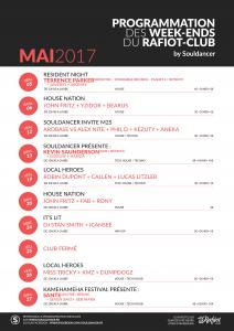 Programmation du mois de mai 2017