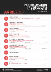 Programme du mois d'avril 2017